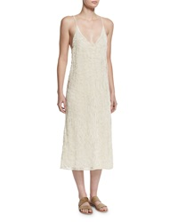 The Row Tatan Embroidered Camisole Dress Off White