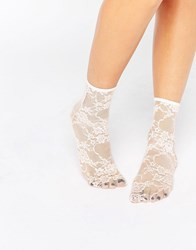 Asos Lace Ankle Socks Pink