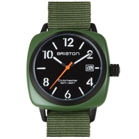 Briston Clubmaster Hms Watch Military Green And Black