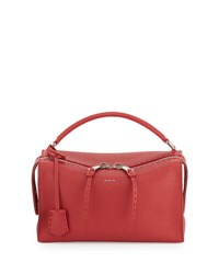 Fendi Selleria Lei Roman Calf Boston Bag Red