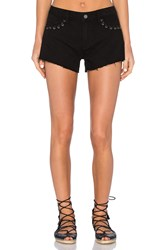 Paige Keira Short Black Hawk Lace Grommet