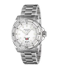Gucci Dive Stainless Steel Bracelet Watch White