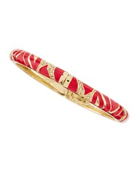 Skinny Zebra Bangle Red Sequin