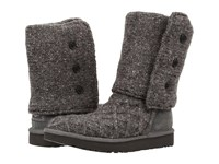 Ugg Lattice Cardy Charcoal Women's Pull On Boots Gray