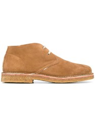 Closed Desert Boots Brown