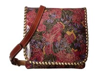 Patricia Nash Granada Crossbody Metallic Paisley Cross Body Handbags Brown