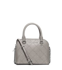 Michael Kors Cindy Extra Small Saffiano Leather Crossbody Pearl Grey