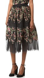 Marchesa Embroidered Skirt Multi