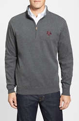 Peter Millar 'Texas Aandm University' Melange Fleece Charcoal