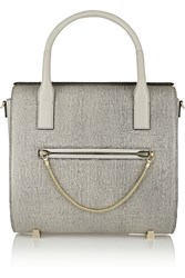 Alexander Wang Chastity Lizard Effect Leather Tote Gray