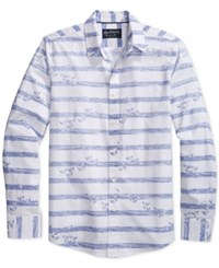 American Rag Let's Go Fishing Graphic Print Stripe Long Sleeve Shirt Only At Macy's