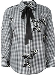 Marc Jacobs Gingham And Floral Blouse Black