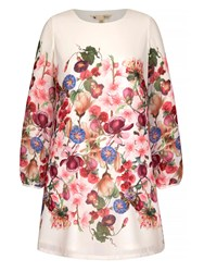 Yumi Summer Flower Print Tunic Dress White