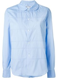 Comme Des Gara Ons Comme Des Gara Ons Peter Pan Collar Panelled Shirt Blue
