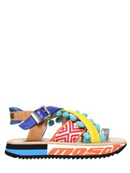 Moschino 40Mm Leather And Cotton Sandals