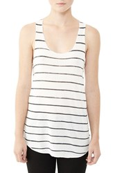 Alternative Apparel Women's Alternative 'Meegs' Racerback Tank Eco Ivory Ink Stripe