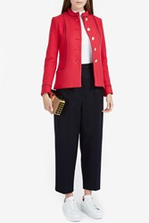 Paul Joe Women S Mericourt Military Jacket Boutique1 Red