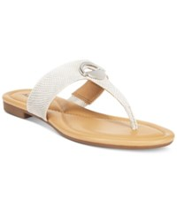 Alfani Women's Holliss Flat Thong Sandals Only At Macy's Women's Shoes White
