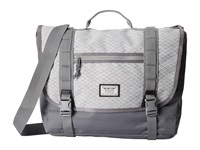 Burton Flint Messenger Grey Heather Diamond Ripstop Messenger Bags White