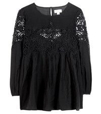 Velvet Ambrosine Cotton Blouse Black