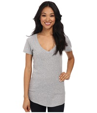 Lamade V Pocket Tee Tissue Jersey Heather Grey Women's Short Sleeve Pullover Gray