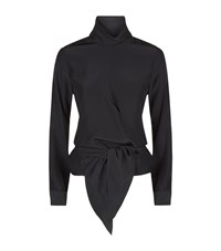 Victoria Beckham Wrap Bow Blouse Female Black