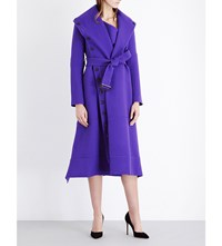 Roland Mouret Harper Wool Coat Royal Purple