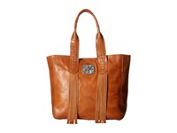 American West Mohave Canyon Large Zip Top Tote Golden Tan Tote Handbags