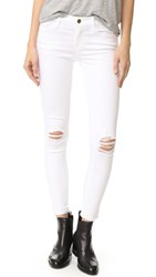 Frame Le Skinny De Jeanne Cropped Jeans Lilac Blanc