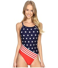 Tyr Triumph Diamondfit Red White Blue Women's Swimsuits One Piece Multi