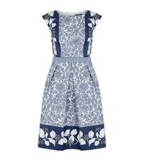 Max Mara Maxmara Weekend Floral Print Cap Sleeve Dress Female Blue