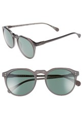 Raen Men's 'Remmy' 52Mm Polarized Sunglasses Matte Grey Crystal
