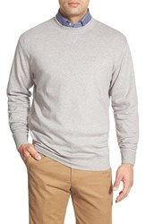 Men's Peter Millar Interlock Crewneck Sweatshirt Light Grey