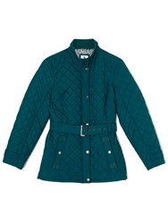 Dash Luxury Quilted Coat Green