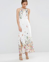 Yumi Uttam Boutique Floral Maxi Dress Cream
