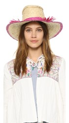 Indego Africa Woven Hat Natural And Pink