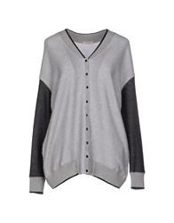 Devotion Knitwear Cardigans Women Light Grey
