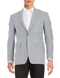 Lauren Ralph Lauren Checkered Wool Blazer Cream Blue