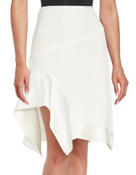 Dkny Asymmetrical Skirt White