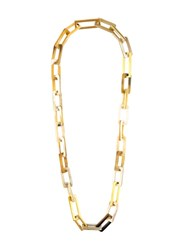 Maiyet 'Horn And Gold Link' Medium Necklace Nude And Neutrals