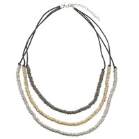 John Lewis Cord And Rings Layered Necklace Multi