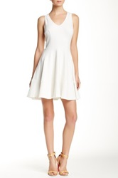 Eight Sixty Sleeveless Solid Dress White