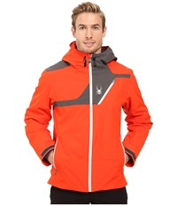 Spyder Enforcer Jacket Rage Polar Cirrus Men's Coat Orange