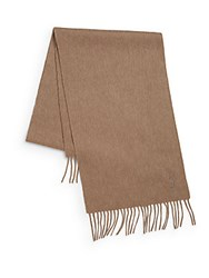Yves Saint Laurent Wool And Cashmere Scarf Mink