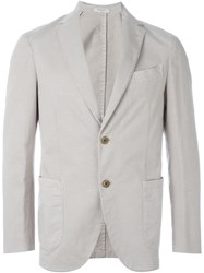 Boglioli Single Breasted Fitted Blazer Nude And Neutrals
