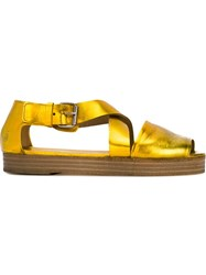 Marsa Ll Cross Strap Metallic Sandals