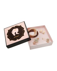 L. Erickson Hair Accessories Holiday Gift Box Silver Gold