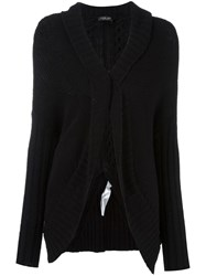 Twin Set Single Button Cardigan Black