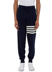 Thom Browne 4 Bar Cashmere Track Pants Navy