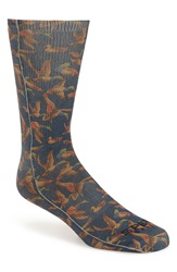 'Sitting Ducks' Sublimated Crew Socks Navy
